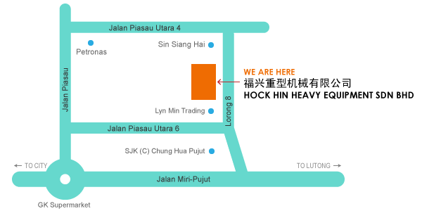 Hock Hin Machinery Trading Co Location Map